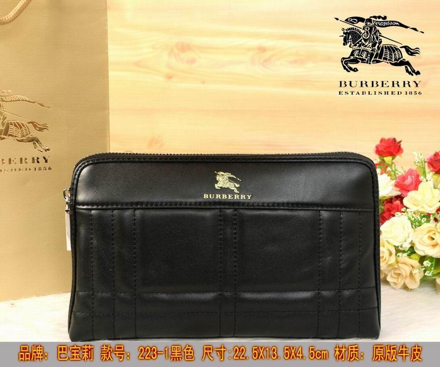 Burberry Clutch Bag 223 Black 22.5cm
