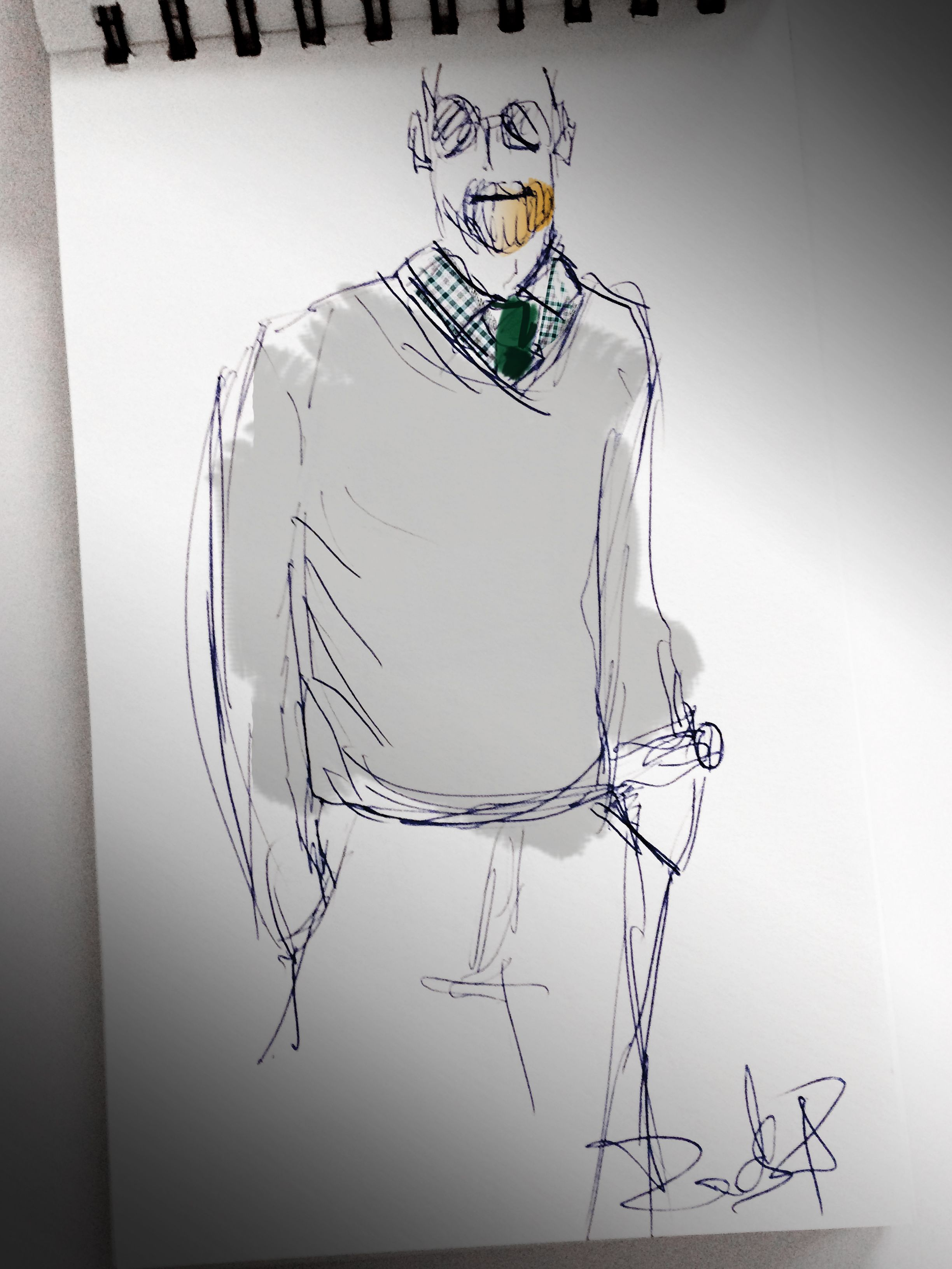 dg,illustration. fashion men Mode Mann Illustration