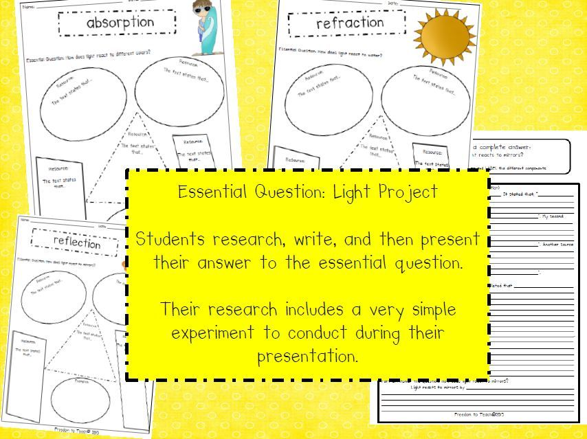 Common Core...research!! Light! Refraction, reflection, absorption, transparent, and more!! Hands on/inquiry based learning!