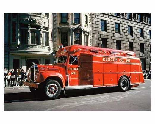 Vintage Fdny Rescue Fire Truck 5th Avenue Parade 1960s Manhattan Fire Trucks Trucks Vintage Trucks