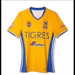 3aae3f2d2 Women s Tigres Home 16-17 Season Yellow Soccer Jersey  H711