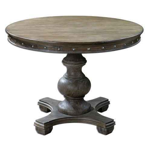 Captivating Sylvana Light Gray 42 Inch Round Table Uttermost Console/Sofa Tables Accent  Tables Living