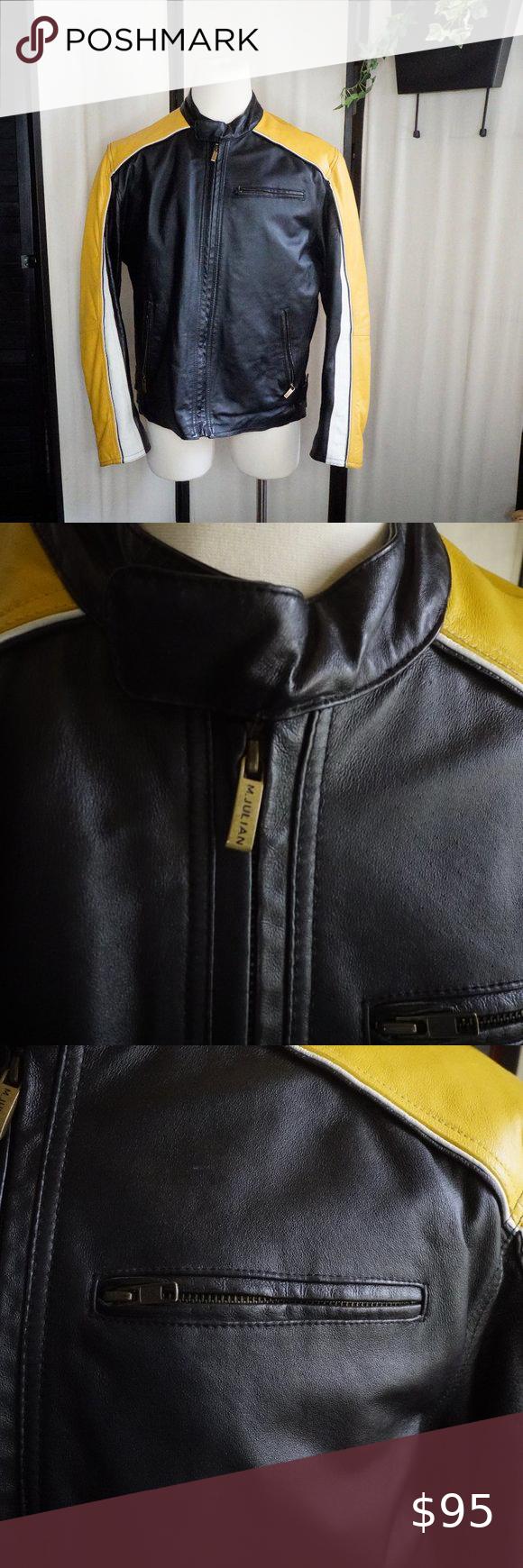 M Julian Yellow Black Leather Moto Jacket Wilson Black Leather Moto Jacket Leather Moto Jacket Black Leather [ 1740 x 580 Pixel ]