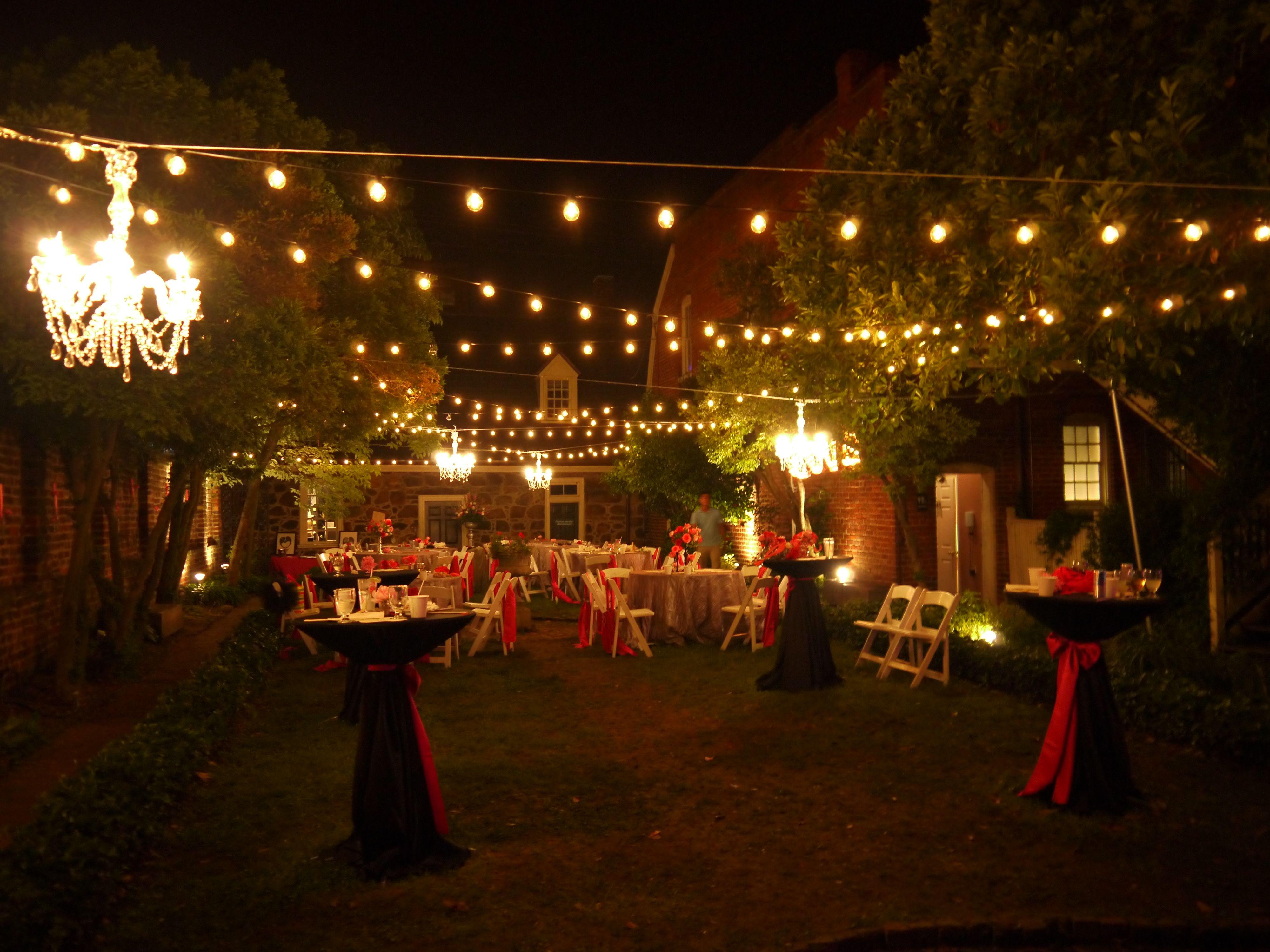 Bistro lights and chandeliers. Poe Museum. Richmond VA. Leapav.com ...