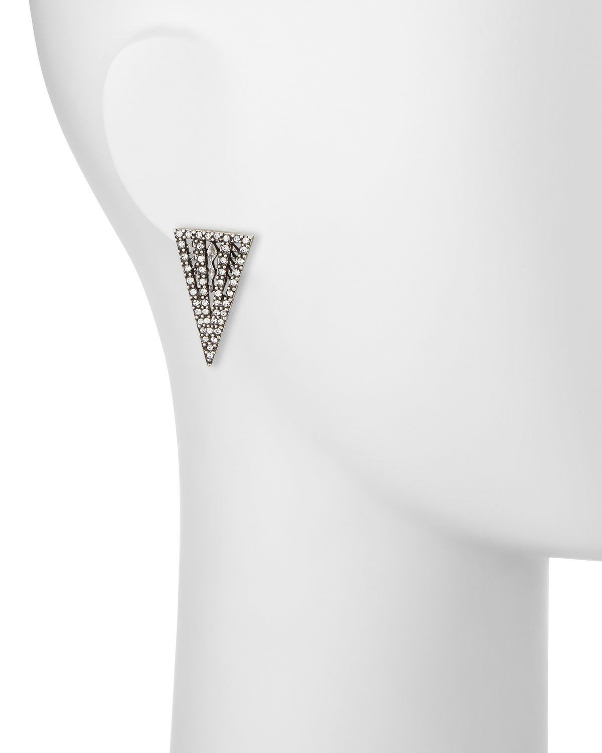 Lulu Frost Lucent Crystal Triangle Stud Earrings ESPH3bFmB