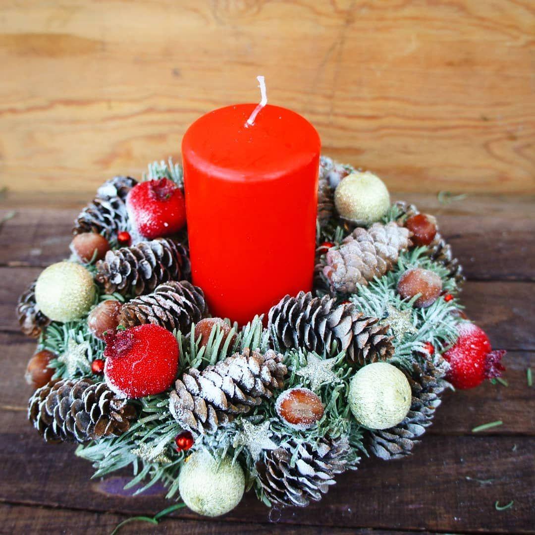 Новогодняя свеча на стол, всегда его украсит))) #новыйгод ...