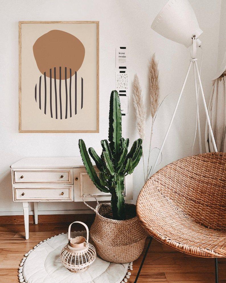 Abstract Printable Wall Art, Hygge Home Decor, Boho Chic Home ...