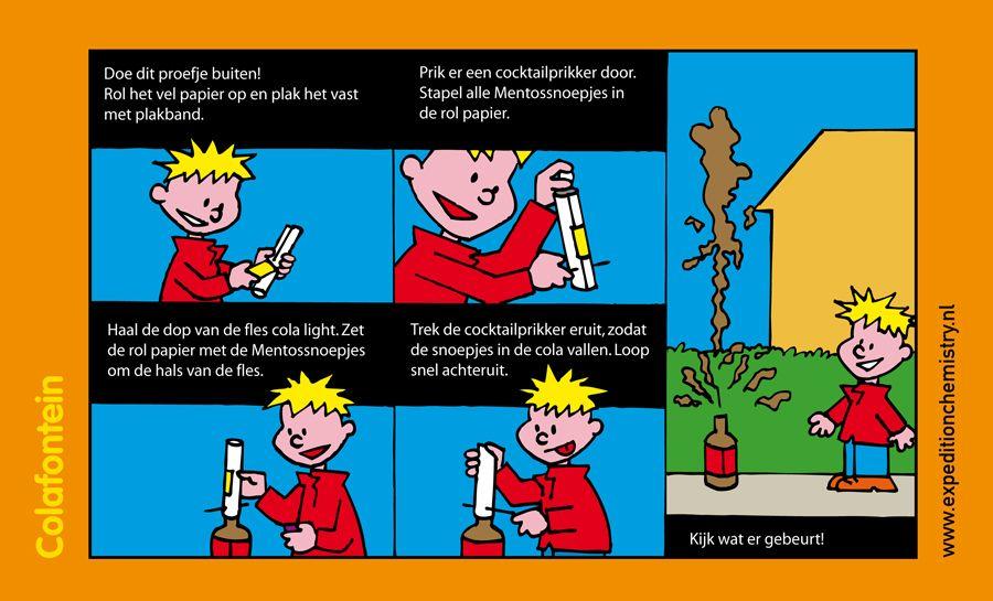 Colafontein, leuk proefje voor kinderen op de basisschool!