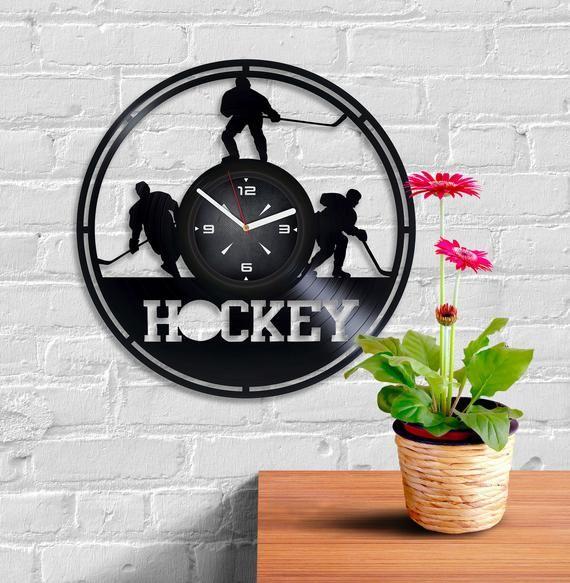 Hockey Gift Vinyl Lp Retro Record Wall Clock Large ...