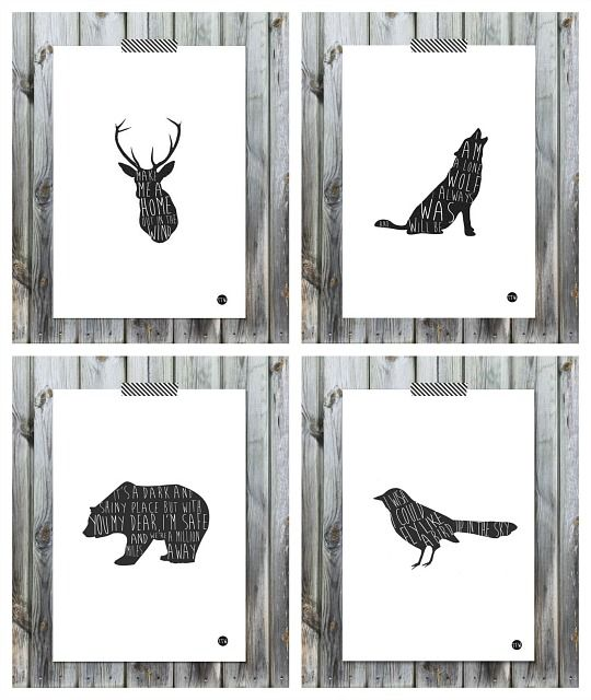 L minas de animales de to the wild decoraci n hogar ideas y decoraci n pinterest - Laminas decorativas para imprimir ...