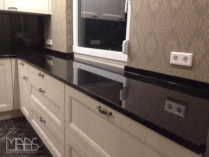 Dank seiner natürlicher Schönheit, Nero Devil Black ist ein - arbeitsplatten granit küche