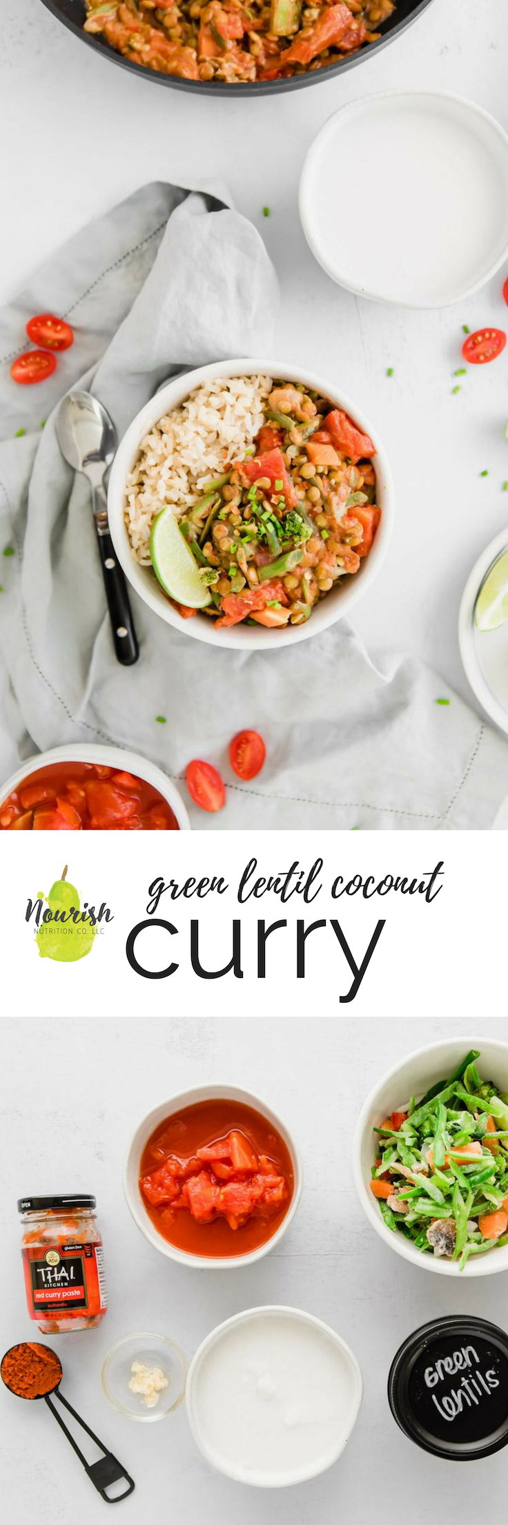 Green Lentil Coconut Curry