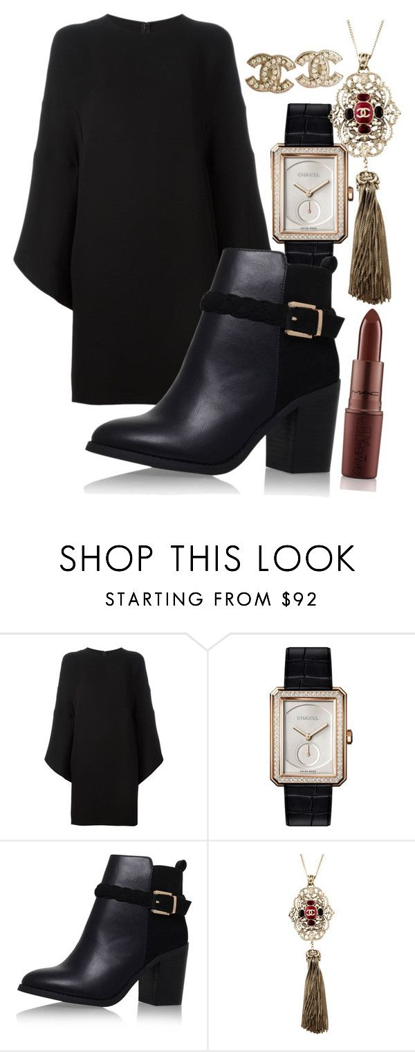 """Make A Play"" by chelsofly ❤ liked on Polyvore featuring Valentino, Chanel and Topshop"