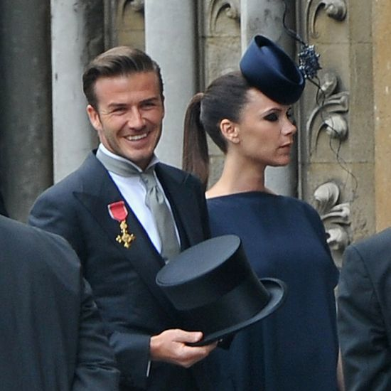 love it! wonderful! victoria beckham's royal wedding hat by philip treacy