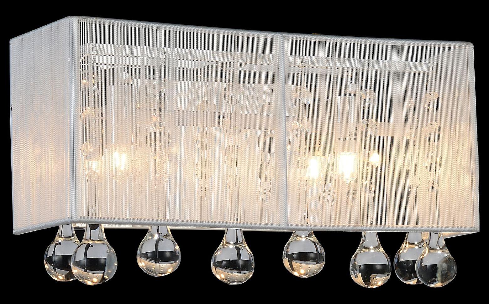 Crystal World 1 Light Vanity Light With Chrome Finish Vanity