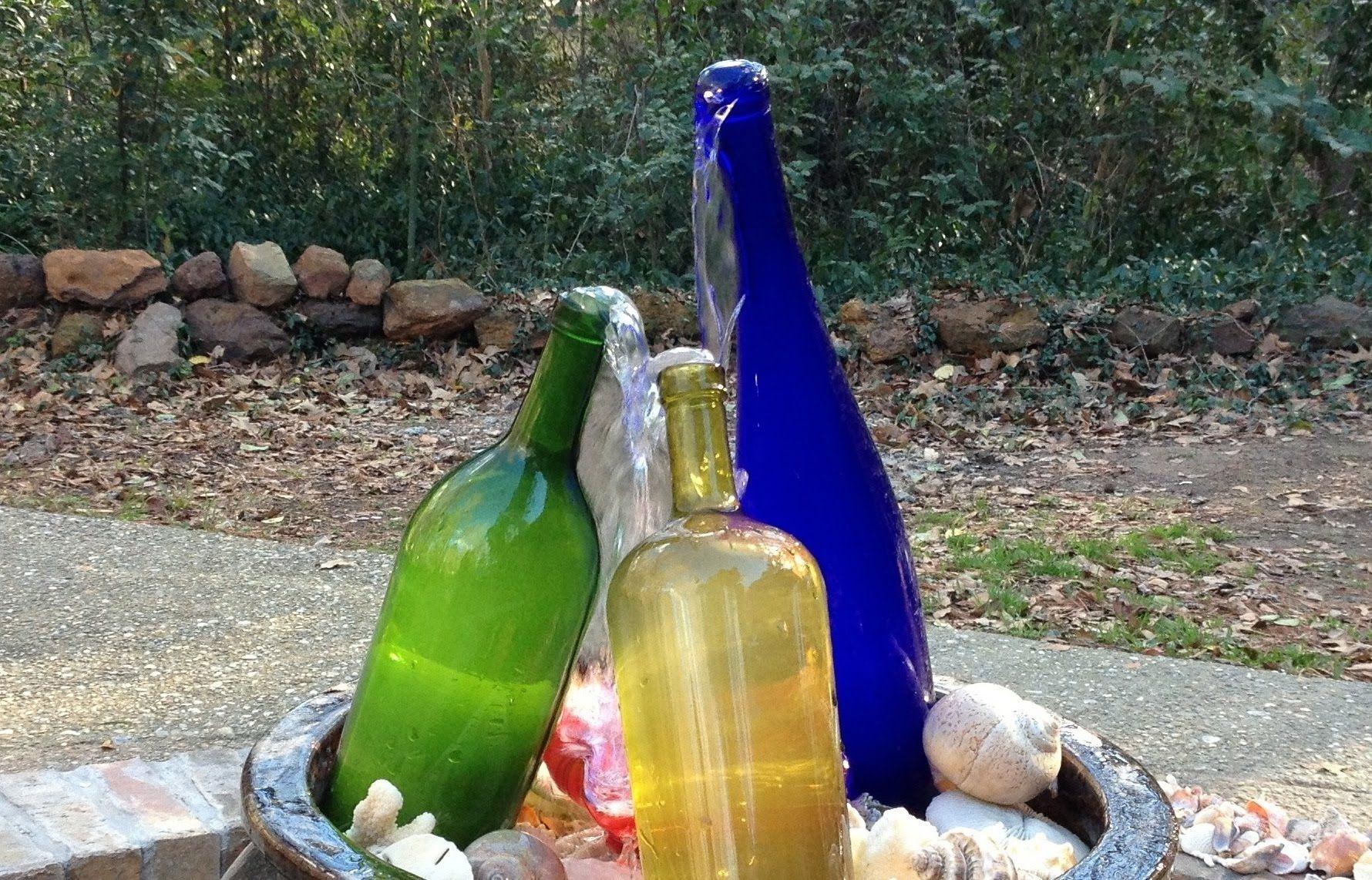 Wine Bottle Waterfall Fountain Building Making Wine Bottle Fountain Diy Water Feature Diy Water Fountain