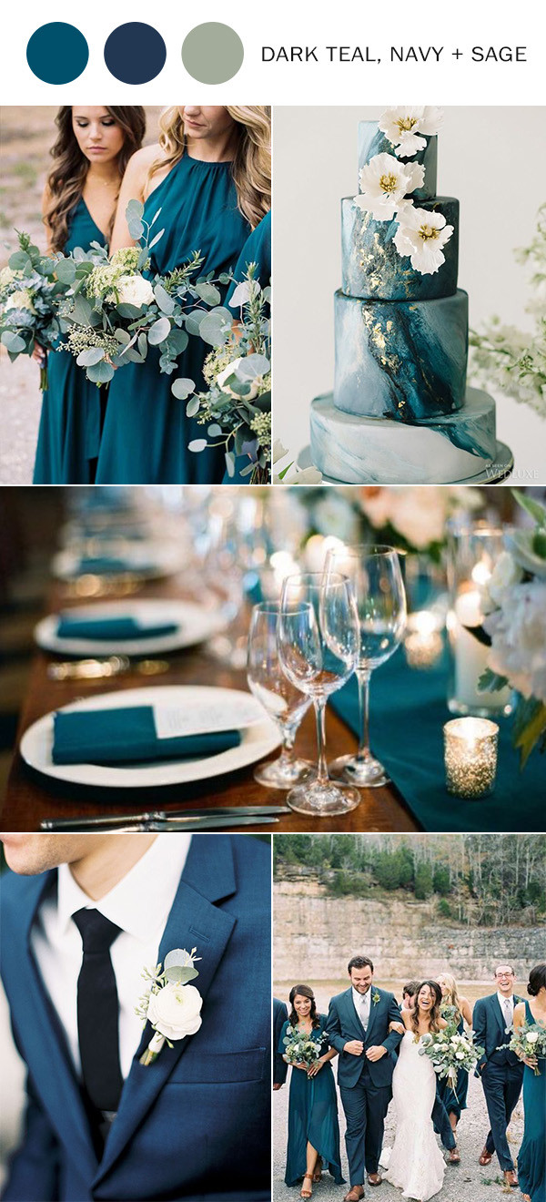Fall Wedding Ideas6 Dark Teal Wedding Colors for 2020 in