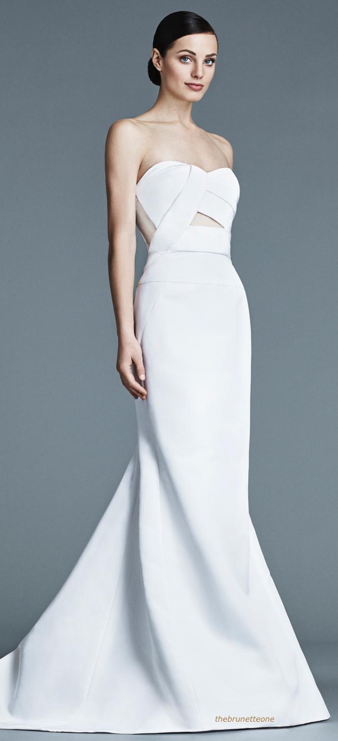 Black white wedding dress  j mendel   My Style  Pinterest  Black white red Gowns and Black