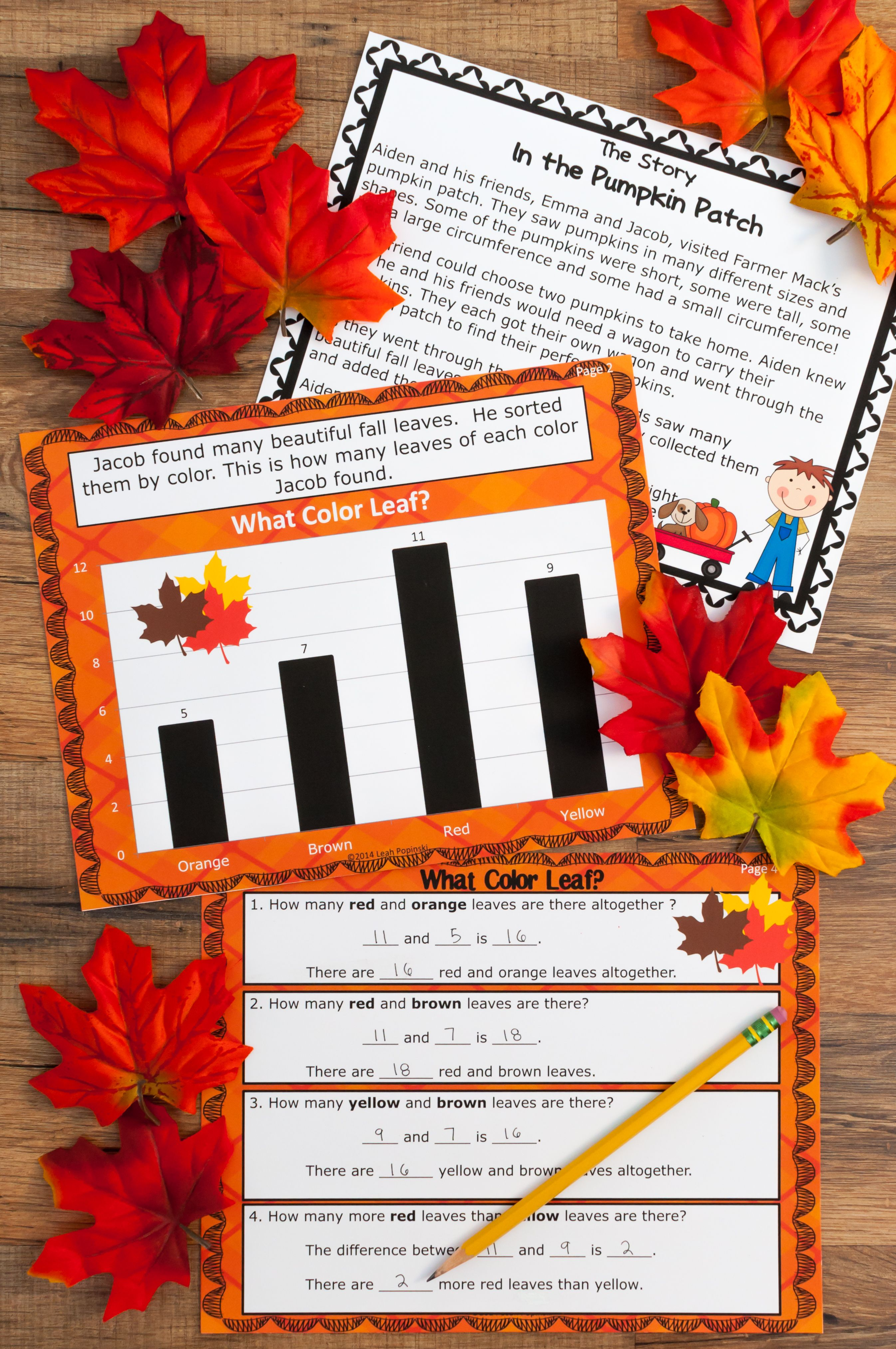 Fall Bar Graphs And Pictographs No Prep Graphing With