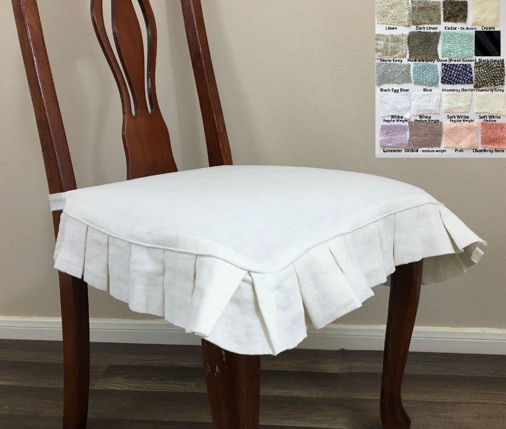 chair seat covers. Linen Chair Seat Cover With Pleated Ruffles \u2013 Multiple Colors Http://www. Chair Seat Covers O