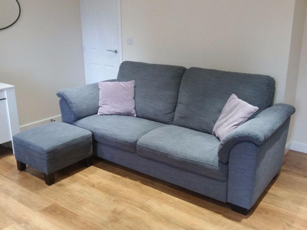 ikea tidafors sofa set hensta grey three seatertwo seater footstool