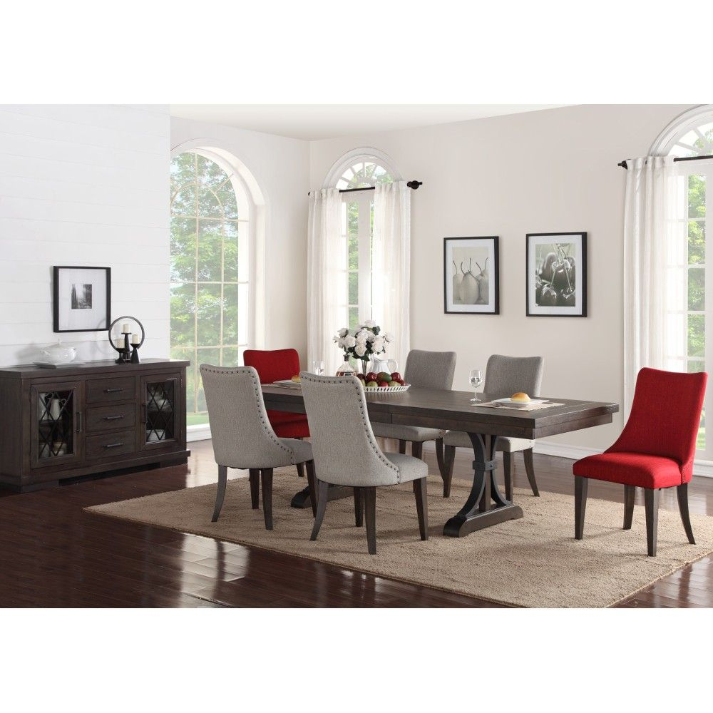 Monte Carlo Dining Set Dining Table 4 Side Chairs Grey