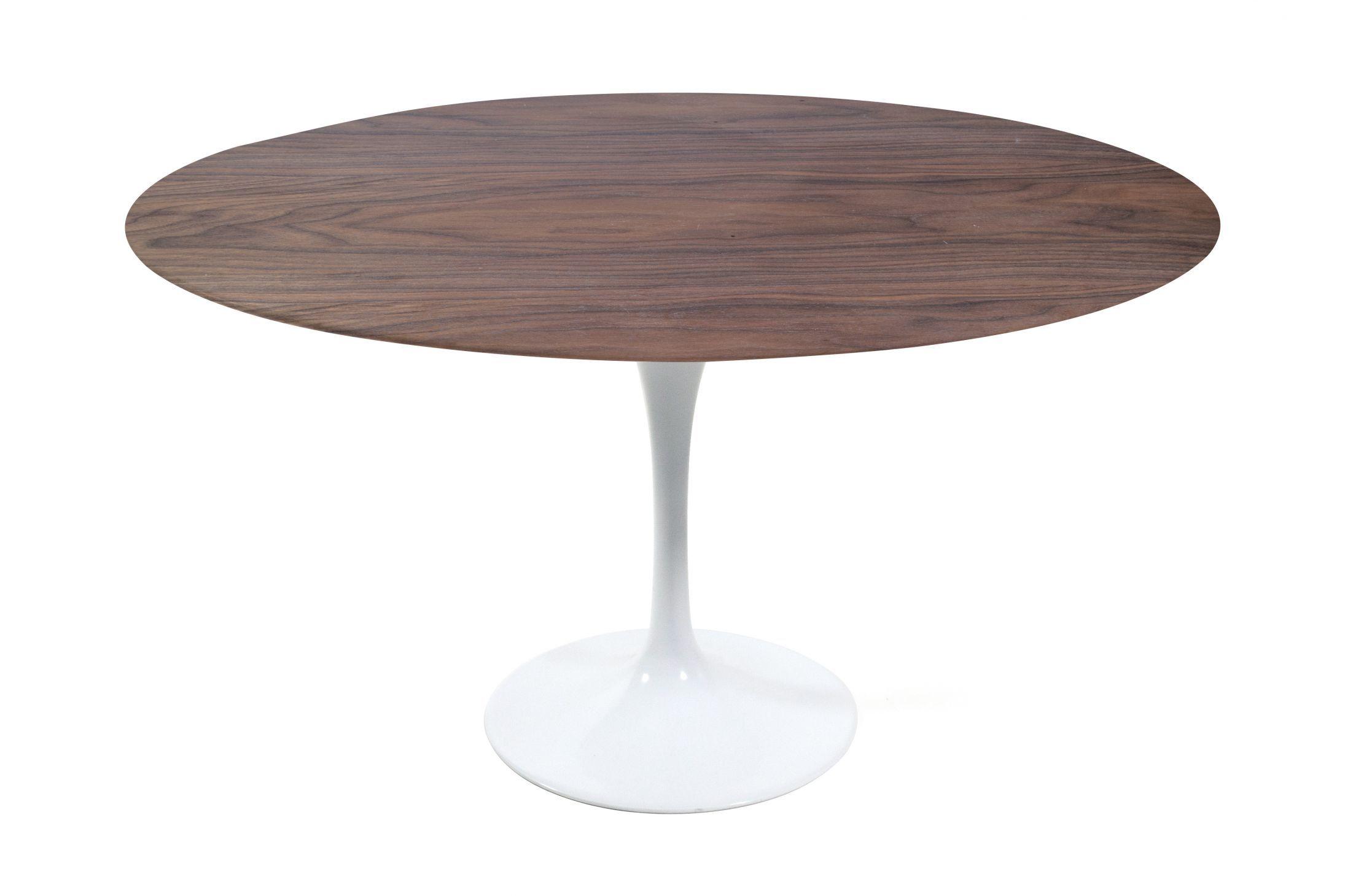 Tulip Table Round Walnut Tulip Table Woods And Walnut Veneer # Muebles Eero Saarinen