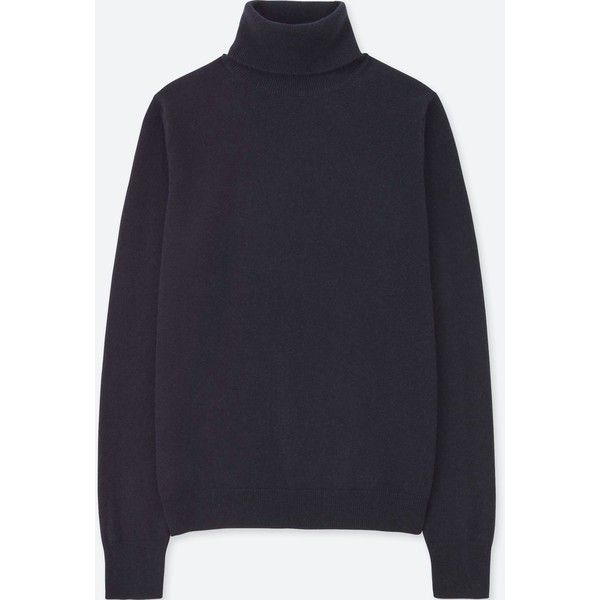 UNIQLO Women's Cashmere Turtleneck Sweater (€68) ❤ liked on ...