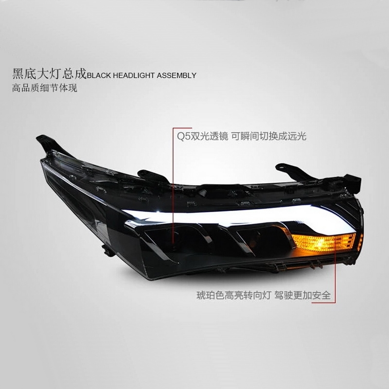 679.99$  Watch here - http://ali9xe.worldwells.pw/go.php?t=32506151521 - 2 PCS DIY Car Style Daytime Running Lights With LED Light Guides Headlight Assembly for TOYOTA 2014 Corolla Altis accessories