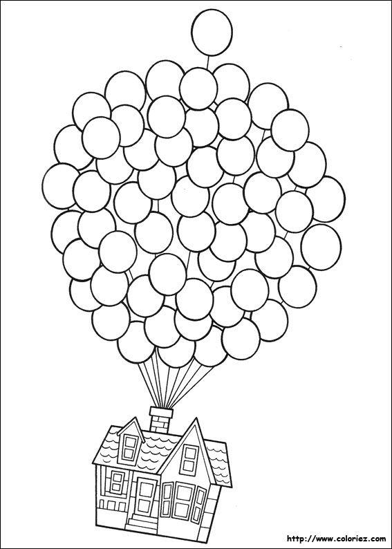 La Maison De Carl Senvole Resimler Okul Boyama Sayfaları Ve