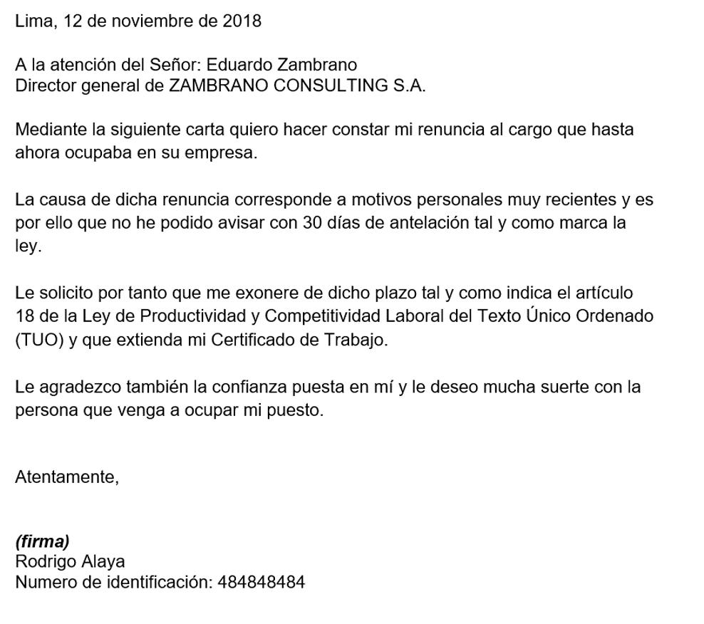 Carta De Renuncia Con Exoneración Resume Template Word Word 2007 Microsoft Word Templates