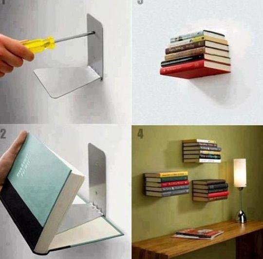 Repisas para libros flotantes Room sweet room Pinterest