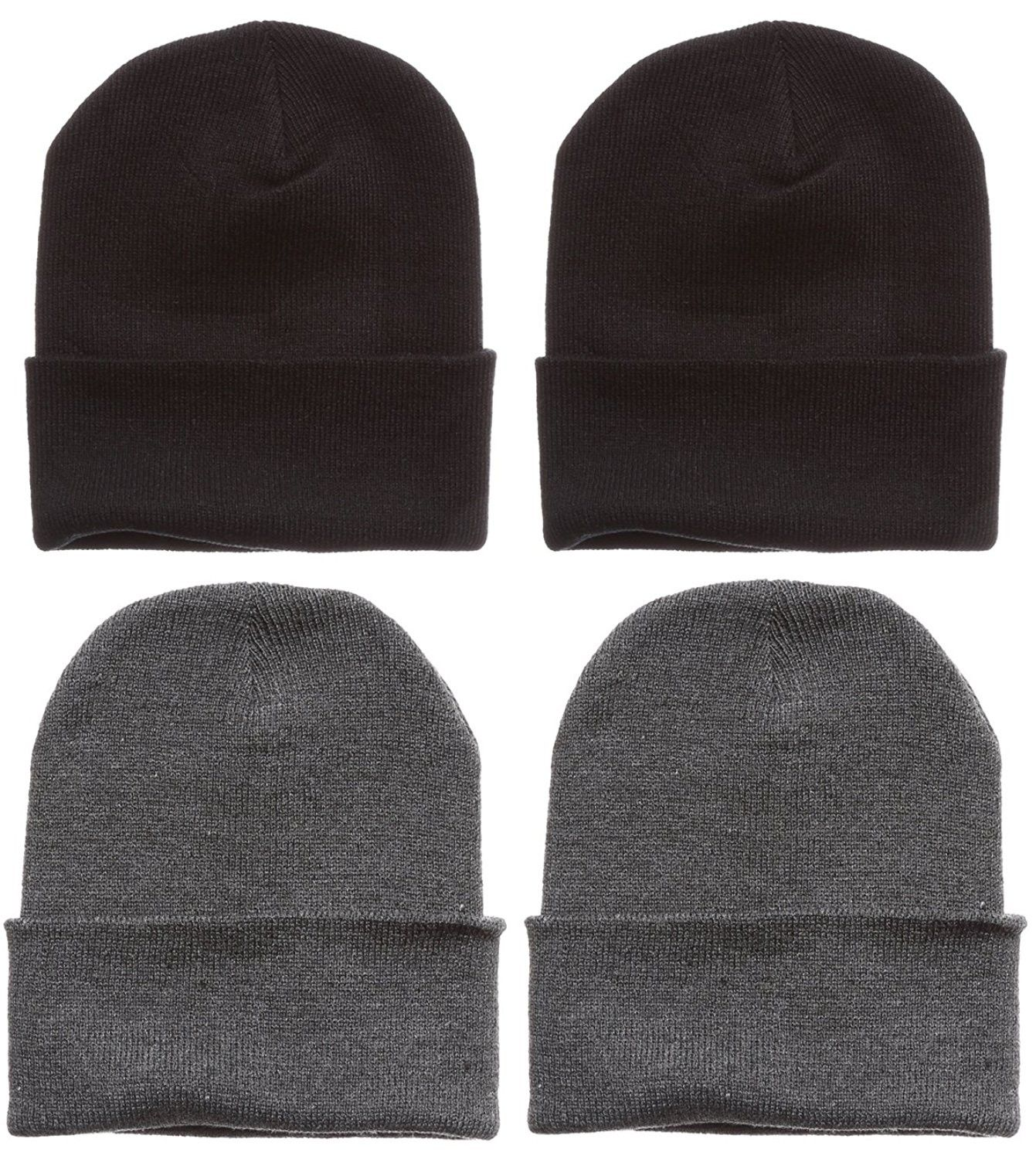 Men s Plain Beanie Solid Color Knitted 12