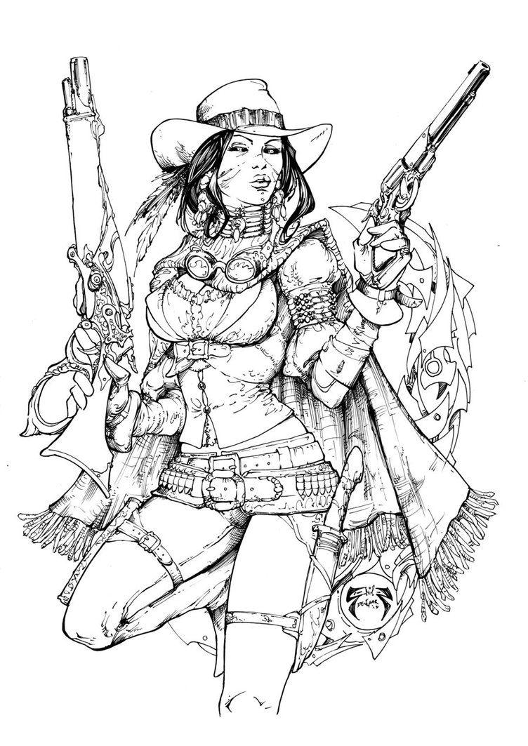 Lady Mechanika Outlaw Inks by devgear on DeviantArt