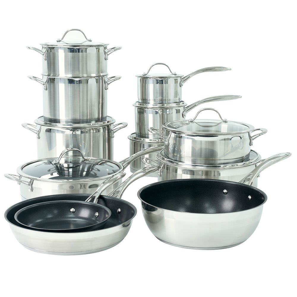 Procook Professional Steel Cookware Set12 Piece Cookware Set