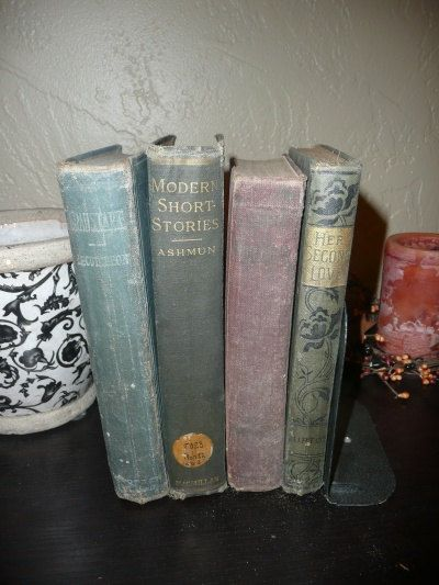 Four Book Collection of Antique Books by Beltzsalvage on Etsy, $10.00