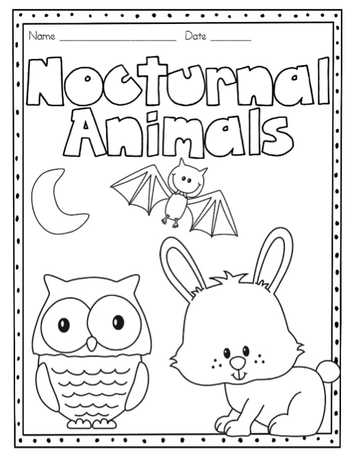 Nocturnal Animals Animal Coloring Pages Nocturnal Animals Coloring Pages