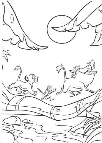 Animals Walking Under The Moon Coloring Page With Images King