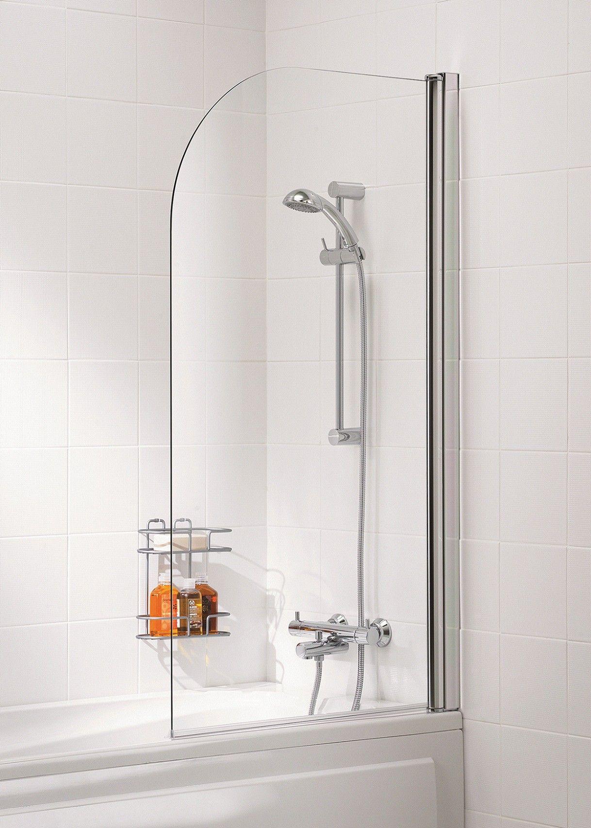 Lakes Curved Bath Screen, 800mm - White   Home sweet home harmony ...