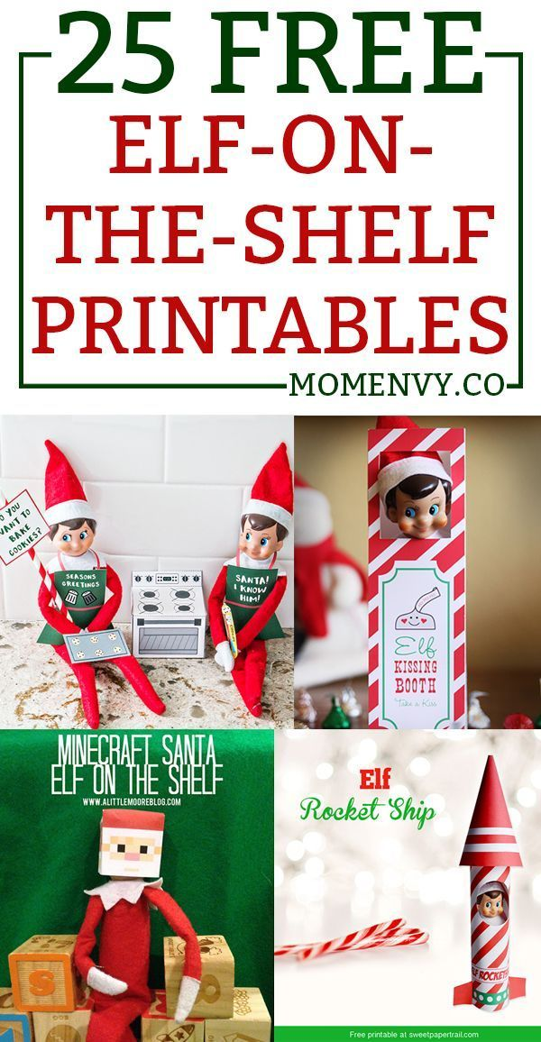 25 Free Elf on the Shelf Printables - Easy Elf on the Shelf Ideas #elfontheshelfideas