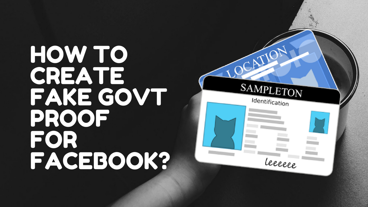 How to create fake govt proof id card for facebook in hindi