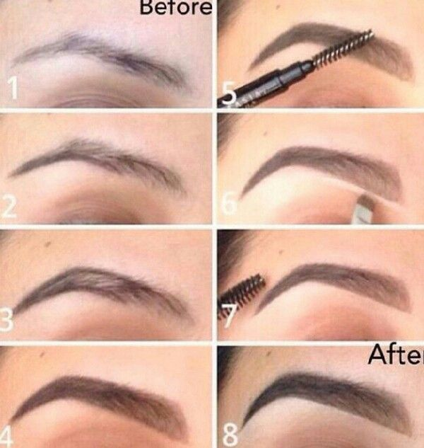 How to draw on eyebrows properly? (with pictures, videos ...