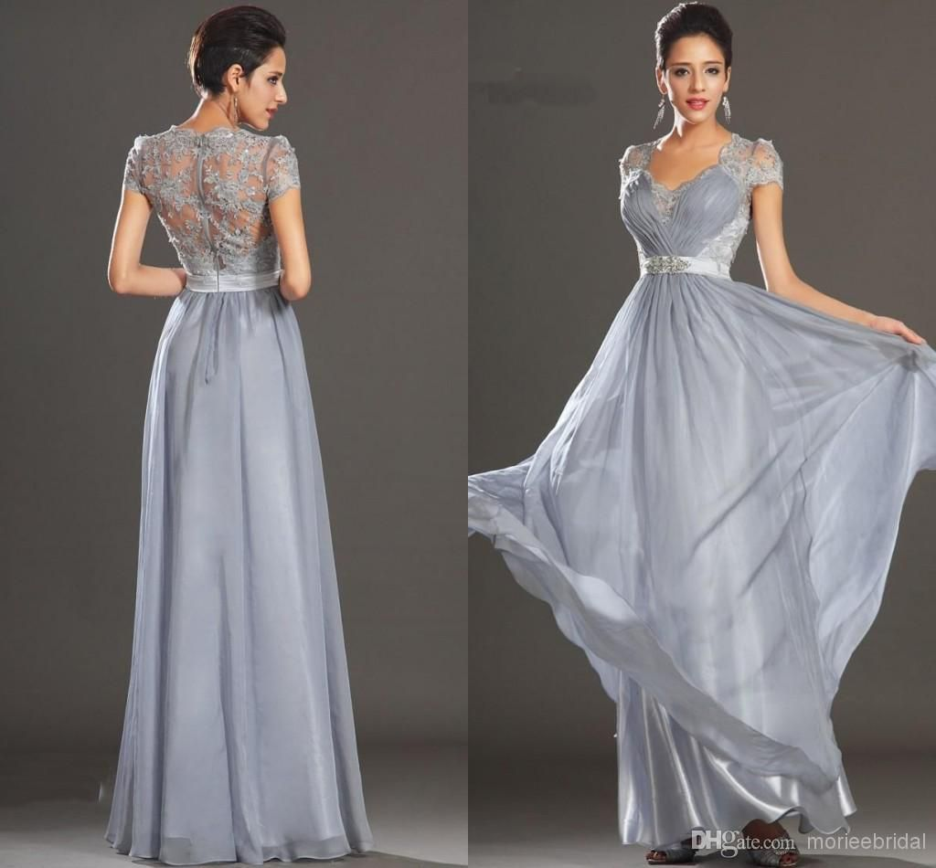 Grey silver prom dresses uk cheap
