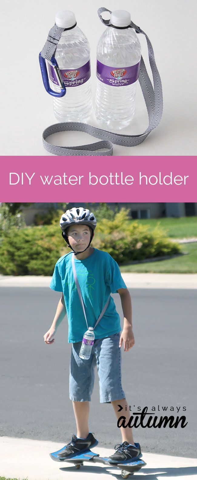 Diy Water Bottle Cool Idea For An Easy Diy Water Bottle Holder Using An O Ring And