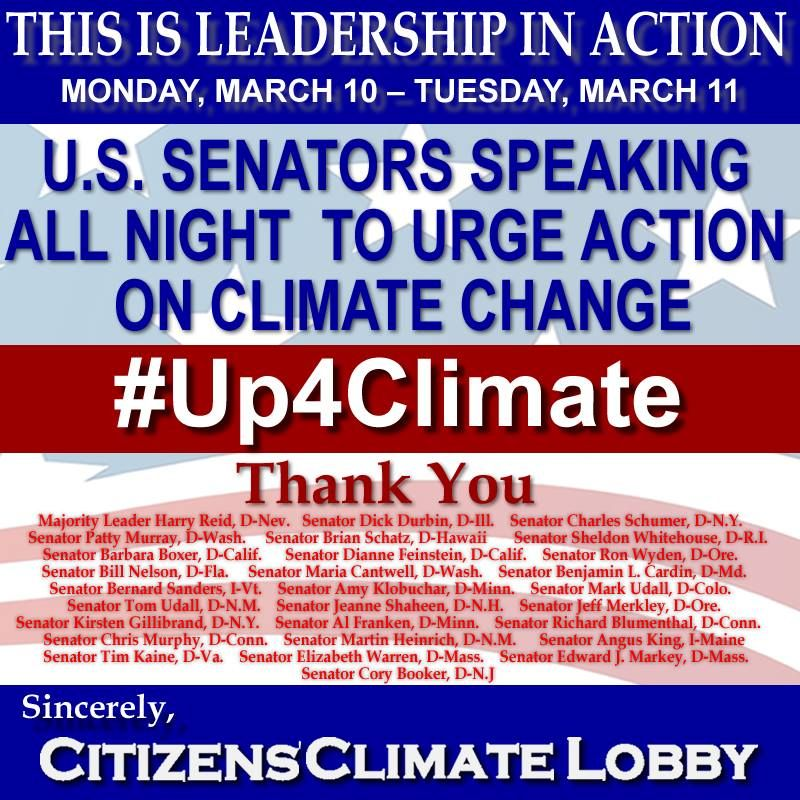 Monday March 10 2014 U S Senators Speaking All Night To Urge