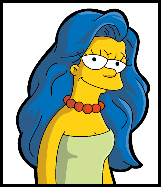 Marge And The Locks Of Hair By Leeroberts Deviantart Com On Deviantart Simpsons Art Simpsons Drawings Marge Simpson
