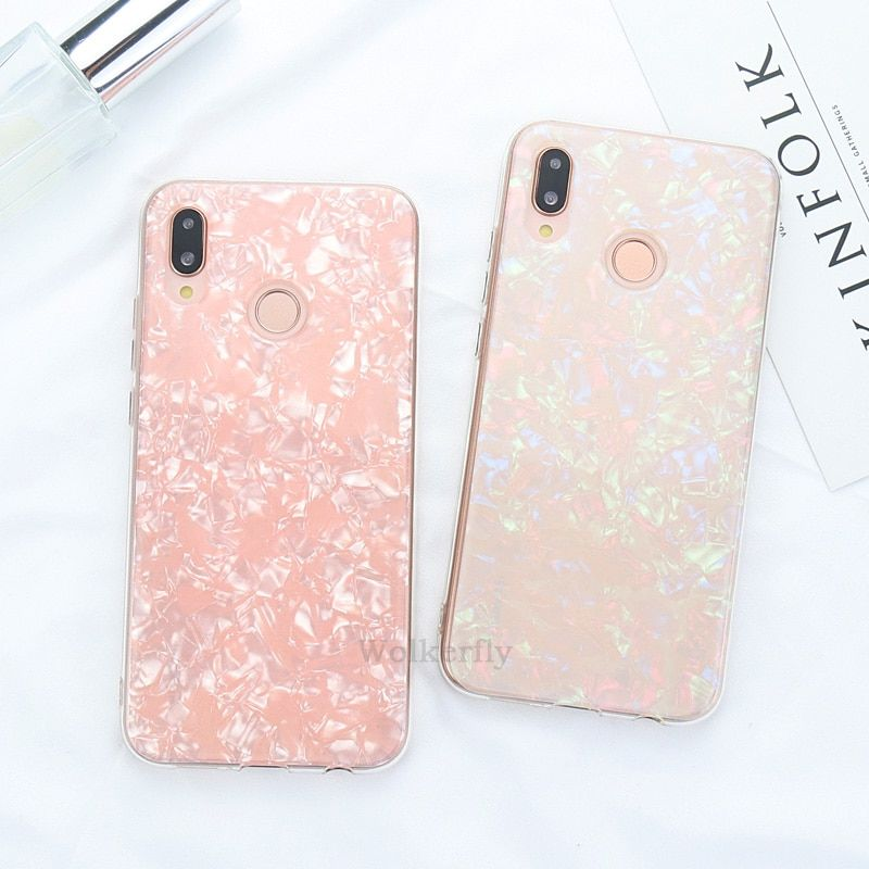 Luxury Conch Shell Phone Case For On Honor 8x 10 9 Lite V20 7c 7a Pro Case For Huawei P10 P20 Lite Y9 Y7 Pro P Smart 2019 Cover Fundas Para