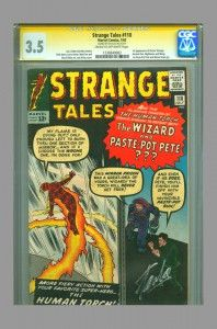 Strange Tales #110 (first Doctor Strange) CGC SS, signed by Stan Lee, now on www.vaultcollectibles.com. #doctorstrange #cgcss #stanlee