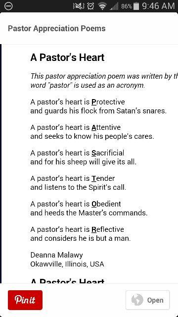 Pastor poem … | Pastor Appreciation Day | Pinte…