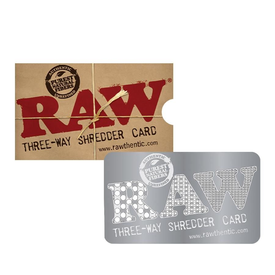 Raw Grinder Card 3 Way Shredder Rolling Paper Grinder Cards